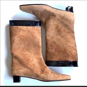 💯Auth Dolce & Gabbana suede/leather Boot Gorgeous